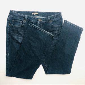 CAbi dark denim bootcut jeans size 10